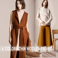 4Colors Available 150CM Wide 560G M Weight Thin Wool Cashmere Solid Color Fabric For Autumn And