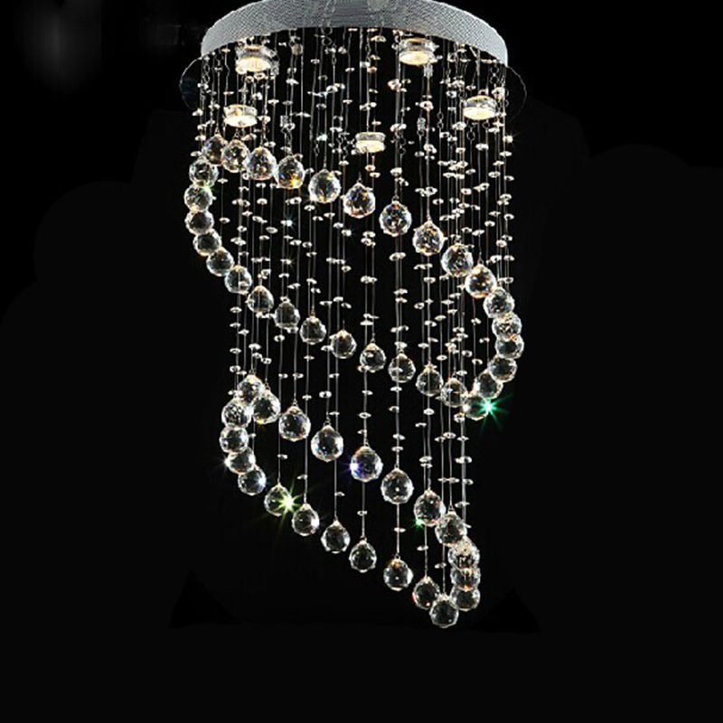 moderno minimalista led vanidad escalera espiral de diseo araa de cristal de luminaria para vivir roomdouble