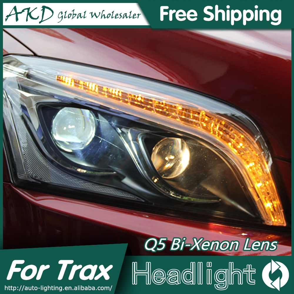 AKD Car Styling for Chevrolet Trax Headlights 2014-2015 Tracker LED Headlight DRL Bi Xenon Lens High Low Beam Parking Fog Lamp akd car styling for chevrolet cruze headlights 2009 2015 led headlight drl head lamp q5 bi xenon lens high low beam parking