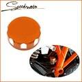 Orange color con logotipo de ktm motocicleta cilindro maestro del freno trasero tapa del depósito para ktm 690 duke 690 envío gratis