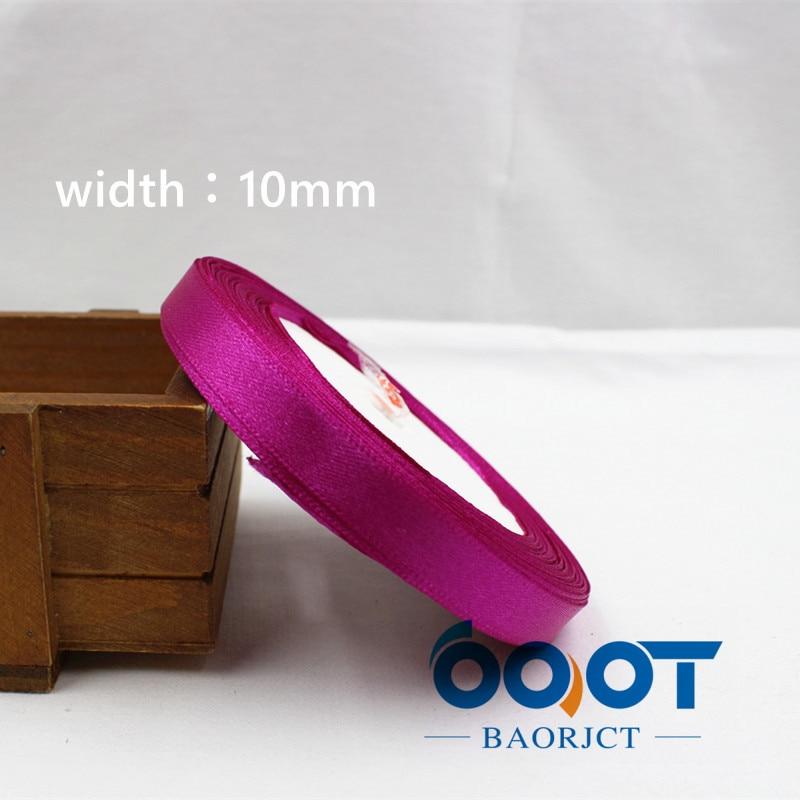A-166910, 10 мм 31 цвет на выбор 25 ярдов шелковая атласная лента, свадебные декоративные ленты, подарочная упаковка, материалы ручной работы - Цвет: 034