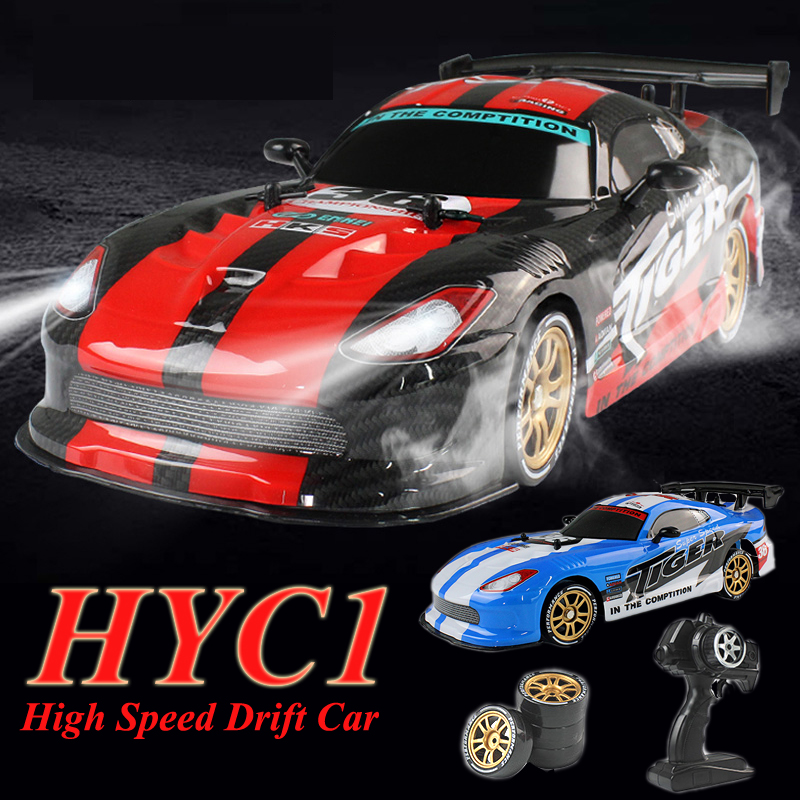 HYC1 RC Car Drift Remote Control Car Racing 1:16 Radio Control 2.4G High Speed RC Drift 4WD Toys For Children Gift