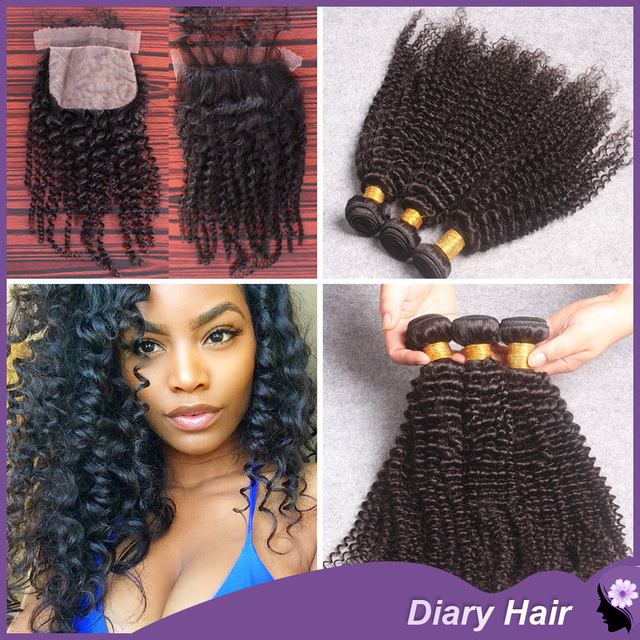 Summer Sale Mongolian Afro Kinky Curly 3pcs Virgin Hair Weave With