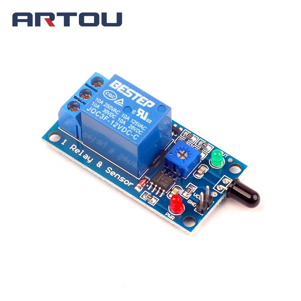 1pcs Ir Infrared 4 Wire Flame Detection Sensor Module Proximity Switch Circuit Using A Lm393 Voltage 12v Relay Fire Alarm