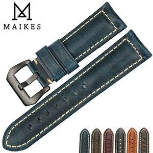 Image 5 - MAIKES più venduti accessori per orologi cinturini Italiano in pelle vintage della vigilanza della fascia della cinghia di cuoio per Panerai braccialetto di vigilanza