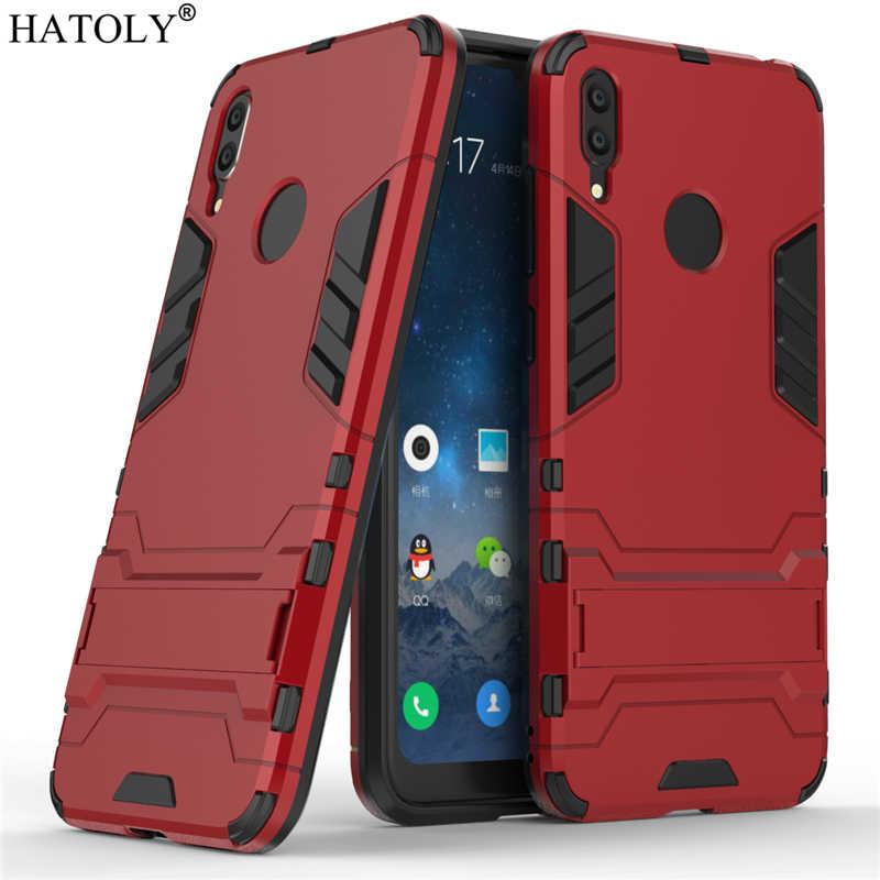 Per Huawei Y7 2019 della Cassa di Gomma Robot Armatura Borsette Dura del PC Della Copertura Posteriore Del Telefono per Huawei Y7 2019 Custodia protettiva per Huawei Y7 2019