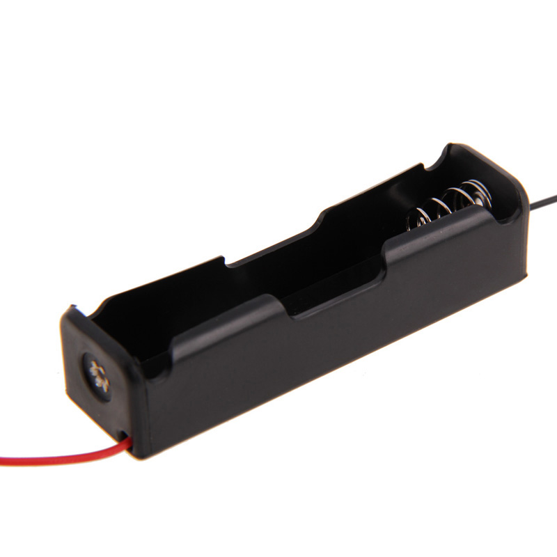 5 Pcs New 18650 Battery 3.7V Clip Holder Box Case Black With Wire Lead for Soldering / Connecting