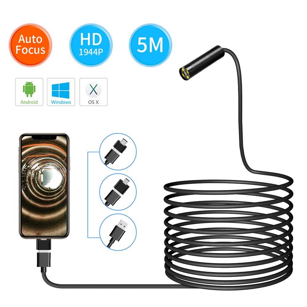 5MP 1944P Super HD 3in1 USB Endoscope Camera 3.5m/5m/10m Optional