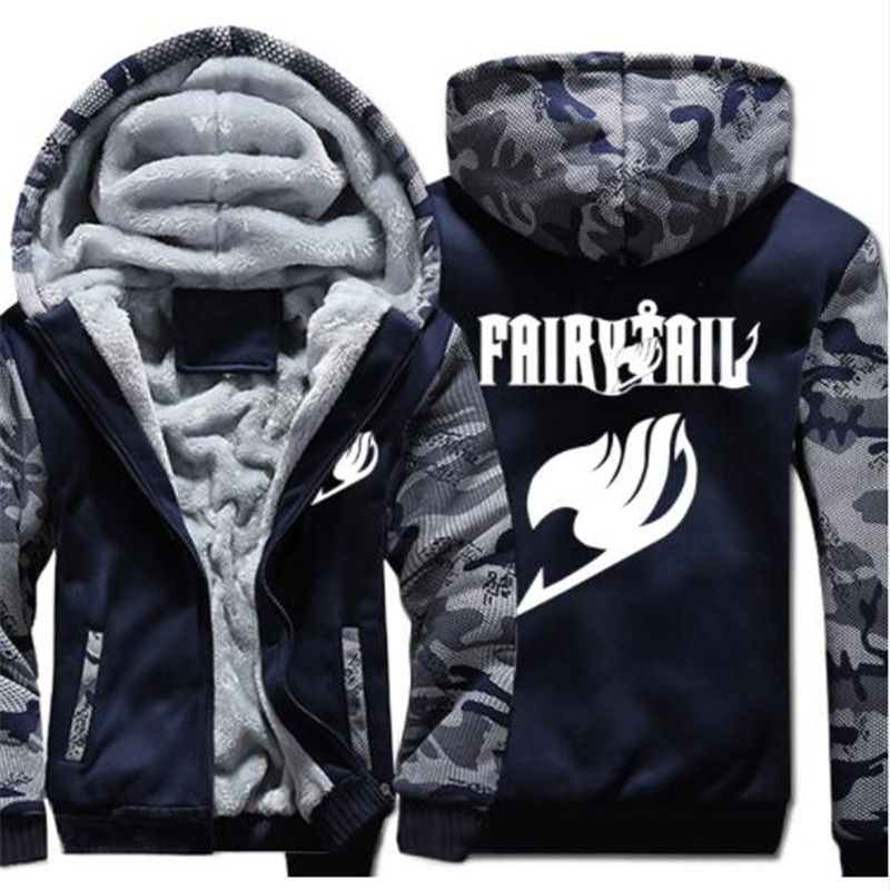 2018 USA size Men Women Anime Fairy Tail Cosplay Jacket Sweatshirts Thicken Hoodie Coat
