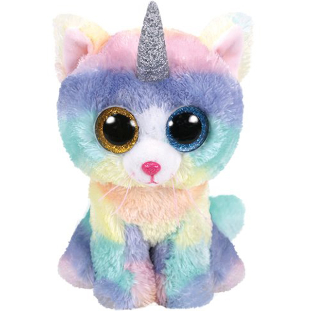 Ty Beanie Boos 6   15cm Heather the Cat Unicorn Plush Regular Soft Big eyed  Stuffed Animal Kitty Collection Doll Toy-in Stuffed   Plush Animals from  Toys ... 7613111a0830