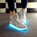 2016 Унисекс Ботинки Светодиодные Фонари Лодыжки Usb Световой Светящийся Ночь Высокой Крышей Chaussure zapatillas led Обувь Бота Lumineuse Обуви Продаж