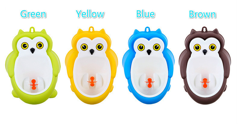Baby boy Urinal Pee Frog and Owl baby toilet training Colored Children Potty Baby Urine Groove PP hooked Urinal for kids (11)