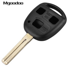 Mgoodoo 3 Buttons Remote Key Shell + Short Blade For Lexus SC430 GX470 RX350 RX400h ES330 GS300 GS430 LS430 Replacement