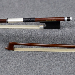 Image 3 - 4/4 크기 910V D.peccatee 마스터 Pernambuco 바이올린 활 좋은 품질 흑단 및 Horsehair 100% 실버 장착 바이올린 액세서리