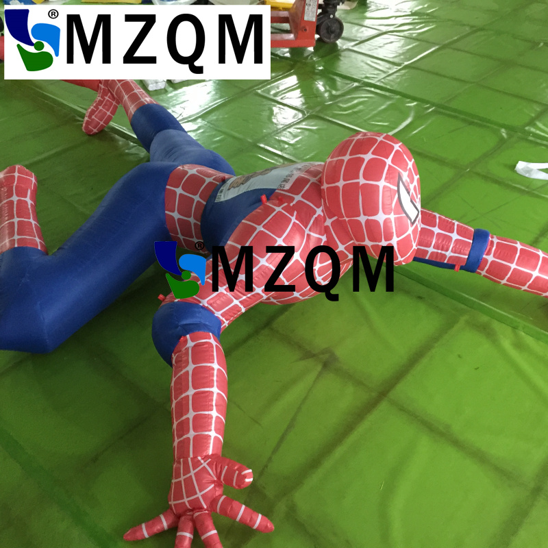 MZQM  3 or 5 or 6 m giant party decoration inflatable spiderman cartoon,large outdoor advertising inflatable spider man figures inflatable cartoon customized advertising giant christmas inflatable santa claus for christmas outdoor decoration