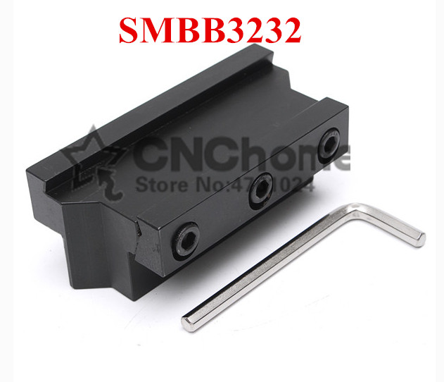 SMBB3232 Parting Blade Block,Indexable Parting Tool Stand Holder 32mm High Holding Clamp For 32mm Parting Tool SPB32-2/32-3/32-4