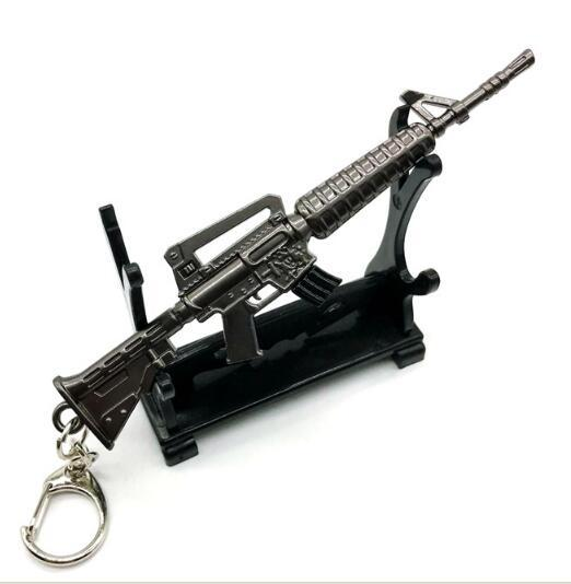 Fortnight Battle Royale Pickaxe Action Figure Toy Anarchy Axe Reaper Pickaxe avd SCAR Rifle Keyring Keychain