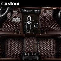 colors Custom Car floor mats for Toyota runner prius RAV4 Mark X Crown Verso Cruiser car styling leather Anti slip carpet liners