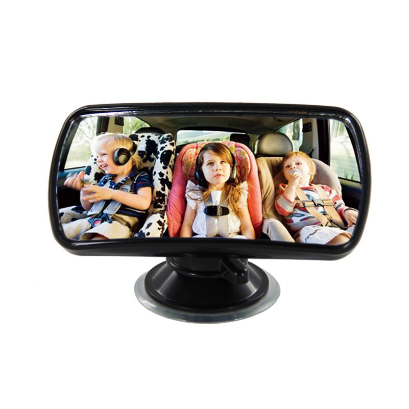 TS15 Convex Clear View Mirror 360 Degree Rotation Sucker Lock Car Interior Accessories Auxiliary Mirror Baby Kid Safety Care