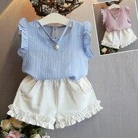 Nice Kids Designer Brand Kids Toddler Kids Baby Girls Summer Outfits Clothes Dress Short 2PCS Set