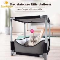 Multifunctional Cat Nest Removable Jumping Board Cat Bed Toy Pet Playpen Indoor Tent For Kitten Cat Puppy Kennel House
