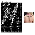 1 Piece Large Indian Henna Tattoo Stencil Airbrush Painting for Beauty Women Back Art Henna Tattoo Stencil Sexy DIY Product S314