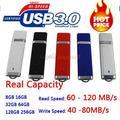 Capacidad verdadera del 3 año de Garantía Usb 3.0 Flash Drive 16/32/64/128 GB Pluma unidad Flash Pendrive USB Memory Stick Unidad de Almacenamiento de Claves de Regalo!