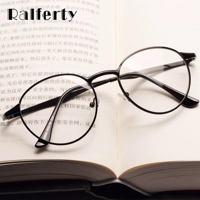 2ad81495ea9c5 Ralferty Vintage Metal Glasses Gold Black Eyeglasses Frame Women Round  Optical Myopia Prescription Frames Female Oculos