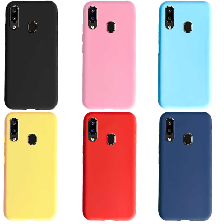 Soft Silicone Case For Samsung Galaxy A 20 A20 2019 Case Slim tpu Candy Color Cover For Coque Samsung A20 Phone Case Back Cover