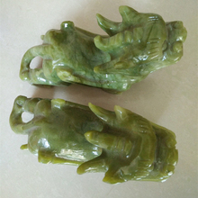 Natural jade ornaments jade Pixiu crafts lucky feng shui home decoration room office desk