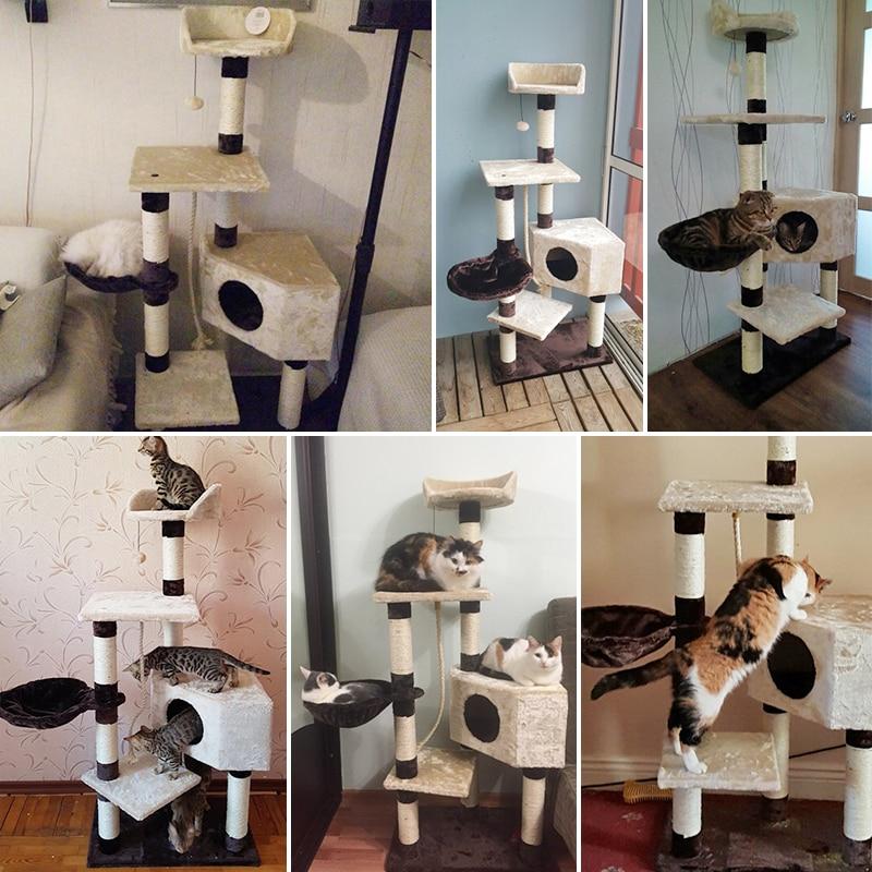 Pengiriman domestik H139cm Kucing Mainan Kucing Rumah Kucing Tidur - Produk hewan peliharaan - Foto 4