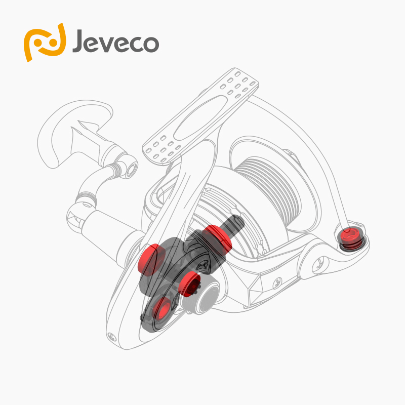 Jeveco FireBall Spinning Angelrolle, Lure Reel Fishing 5.5: 1 6 + - Angeln - Foto 2