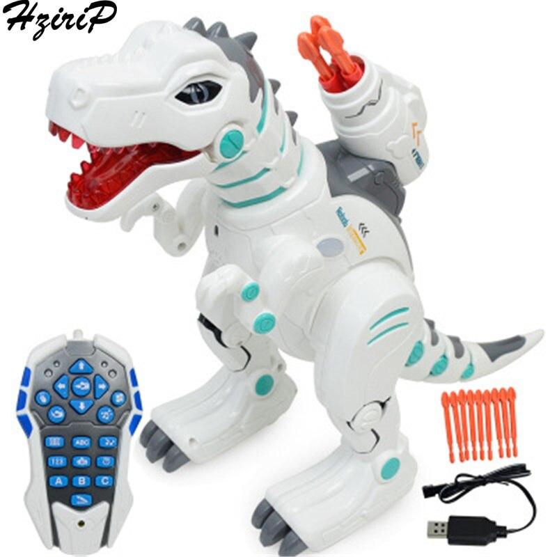 все цены на HziriP Children Intelligent Electric Remote Control Dinosaur Chargeable Toys Spray Tyrannosaurus Rex Model Classic Kids Gifts