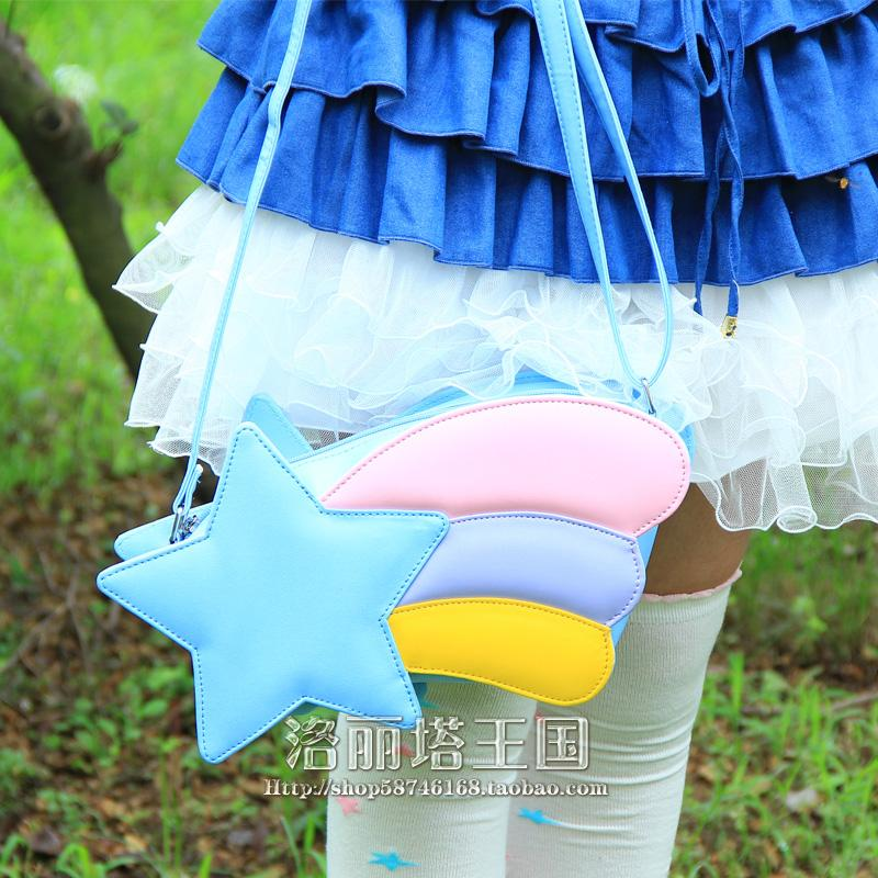 Princess Bag Cos Shoulder Flowing Star Rainbow Shooting Sweet Messenger In Bags From Luggage On