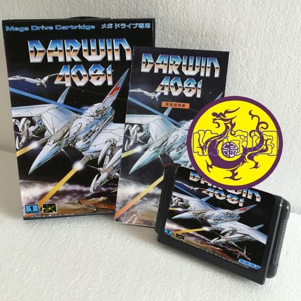 Darwin 4081 With Box And Manual 16bit MD Game Card For Sega Mega Drive For Genesis