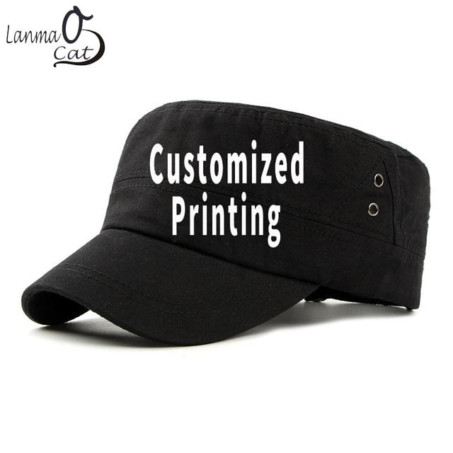 Chapéu do exército do vintage do algodão de lanmaocat chapéu do exército dos homens das mulheres personalizado chapéu superior liso boné de beisebol personalizado bonés do exército frete grátis