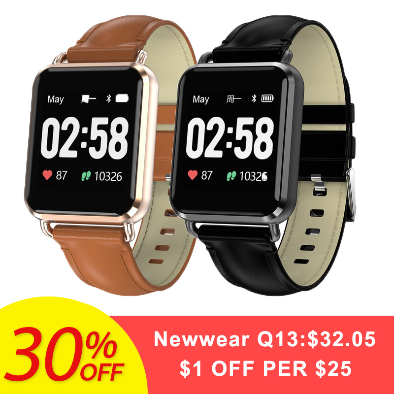 Newwear Q13 Smartwatch hommes femmes ECG + PPG étanche montre intelligente pression artérielle appel Message pour iOS Android téléphone