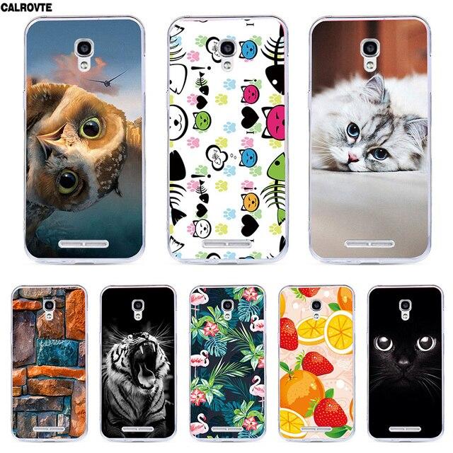 Cartoon silicone téléphone étui pour alcatel One Touch Pop2 M5 (4.5) 5042 5042D 5042E couverture souple peint mignon Animal téléphone sacs cas