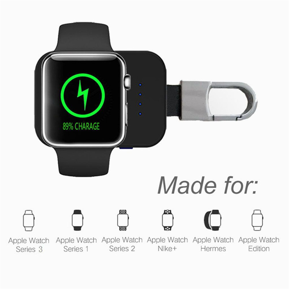separation shoes 33139 54b84 US $12.76 19% OFF|External Battery Pack QI Wireless Charger For Apple Watch  1 2 3 Wireless Charger Dock Power Bank 950mah Portable Outdoor-in Wireless  ...