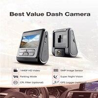 AUDEW автомобиля видео Регистраторы Камера PRO версии 2 К 30fps 7 г объектив 1440 P и F1.8 диафрагма A119 Видеорегистраторы для автомобилей без gps F1.6 Dashcam