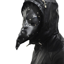 Steampunk Faux Leather Black Bubonic Plague Doctor Masks