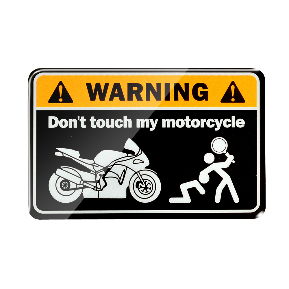 3D Warning Don't Touch My Motorcycle Tank Decals Stickers Motorbike Ninja Tank Stickers for Universal MOTO Tankpad fwc nail stickers on nails blooming flower stickers for nails lavender nail art water transfer stickers decals