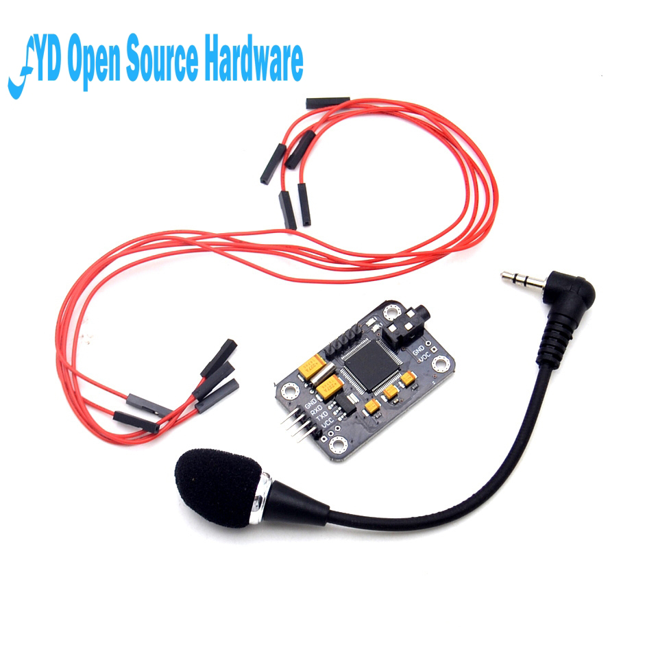 1 conjunto módulo de reconhecimento de voz microfone fio reconhecimento de voz placa de controle de voz para arduino compatível