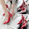 Free shipping 2017 Spring new fashion pointed toe pumps women OL shoes heel 9cm