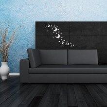 KAKUDER 30PC Butterfly Combination 3D Mirror Wall Stickers Home Decoration DIY Home Decoration Adesivo de parede D38JL18