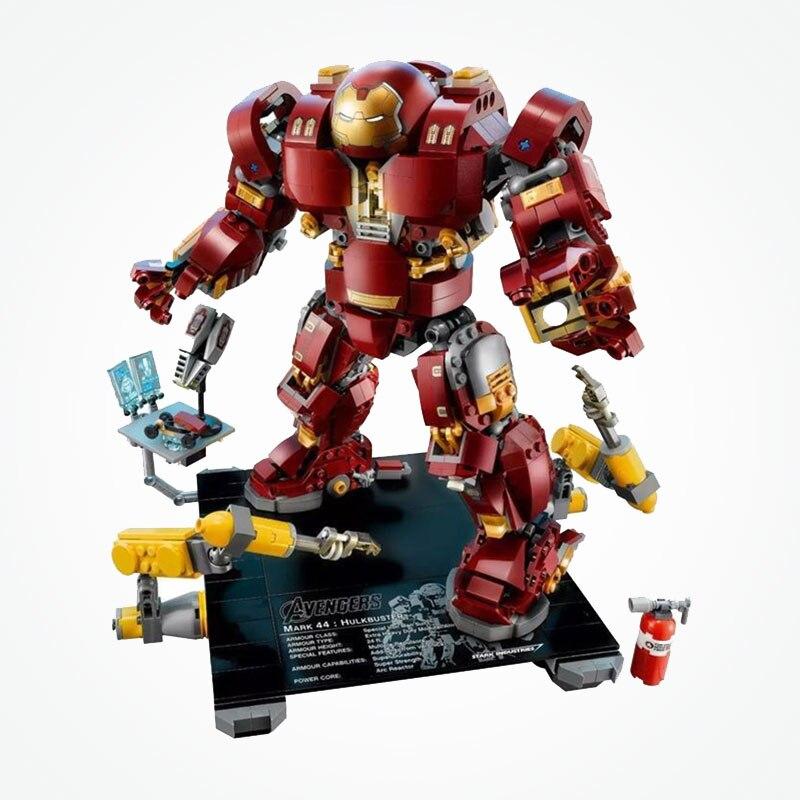 Marvel Super Heroes Hulkbuster Mech Ultron edycja znak Iron Mana zestaw bloki bloki Avengers zabawki w Klocki od Zabawki i hobby na  Grupa 3