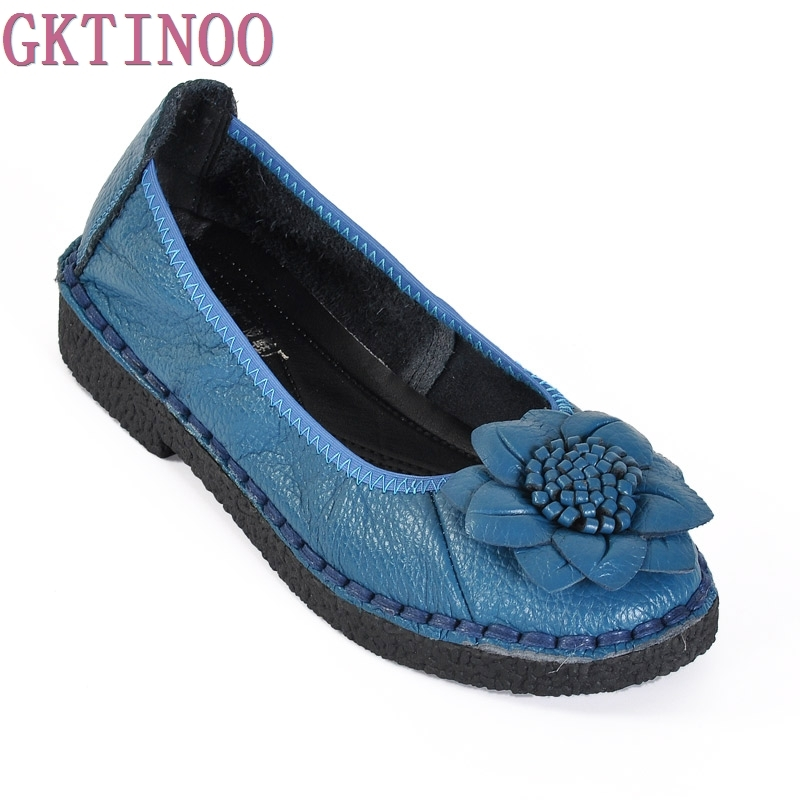 Handmade Flower women's shoes genuine leather female moccasins loafers soft slip-resistant Hand-sewn casual shoes flats new style comfortable casual shoes men genuine leather shoes non slip flats handmade oxfords soft loafers luxury brand moccasins