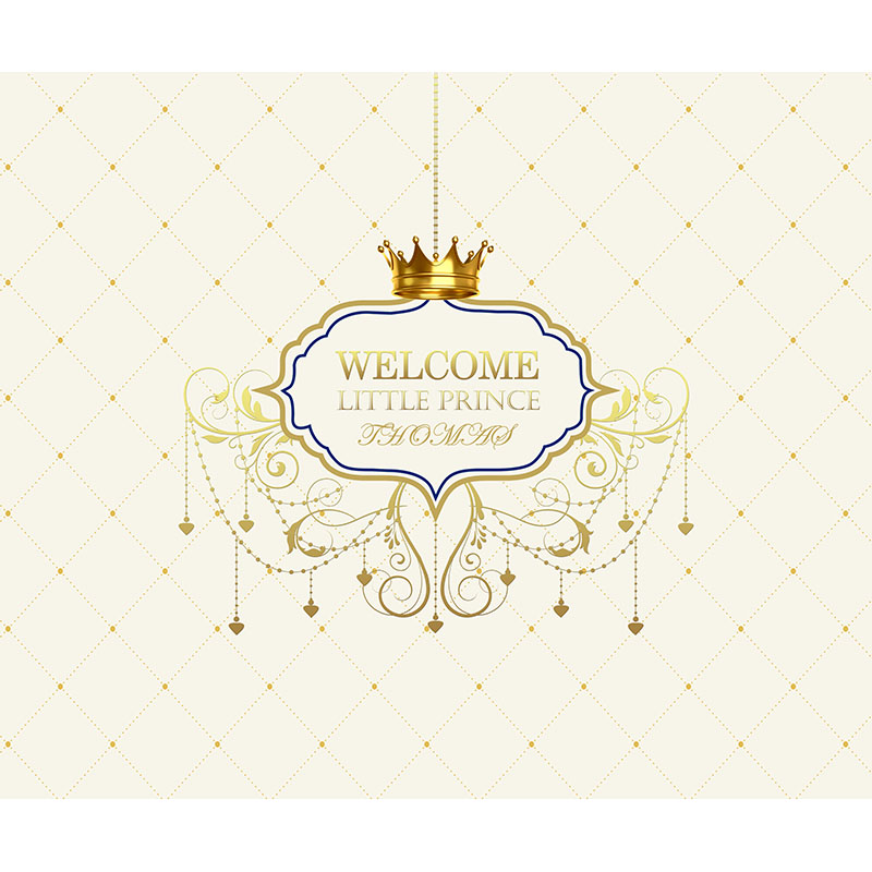 Free shipping Vinyl Photography Background Royal Gold Crown Princess Newborn Baby Birthday Children Backdrops for Photo Studio