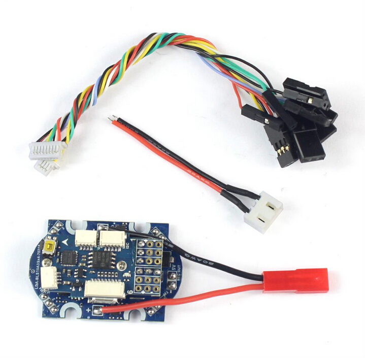 4 in 1 ESC Speed Controller with F3 Flight Controller FC Support ONESHOT MULTSHOT DSHOT for 90GT Super Mini FPV Drone f3 flight controller board integrated with 5v 1a esc