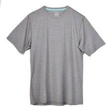 Мужская футболка из 100% мериносовой шерсти с короткими рукавами, Легкая атлетика, летняя воздухопроницаемая Базовая футболка с коротким рукавом